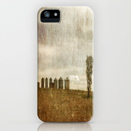 Nine Silos a Tank and a Tree iPhone Case