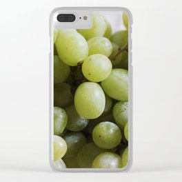 Green Grapes Clear iPhone Case