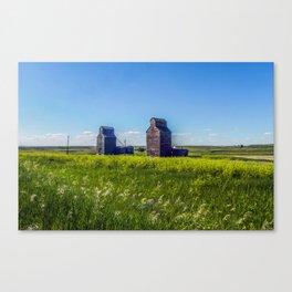 Elevators, Charbonneau, North Dakota Canvas Print