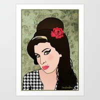 amy poehler Art Prints featuring Amy  by Pendientera