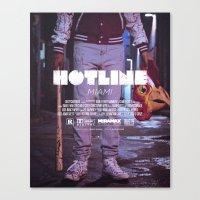 hotline miami Canvas Prints featuring Hotline Miami: The Movie by dcruze