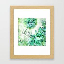 Irish Mint Garden Framed Art Print