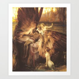 The Lament For Icarus By Herbert James Draper Art Print
