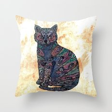My blue cat. Throw Pillow