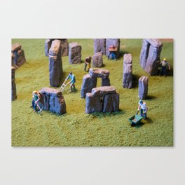 Stonehenge under construction Canvas Print