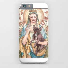 Our Blessed Rebel Queen, Carrie Fisher iPhone Case
