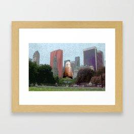 N.Y.C Central Park Framed Art Print