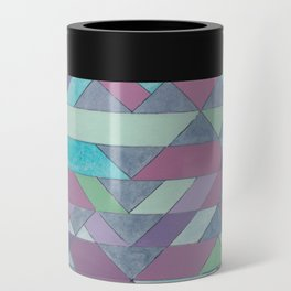 Triangle Pattern no.3 Violet Can Cooler