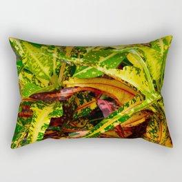 Tropical Croton Plant Rectangular Pillow