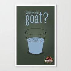 Jurassic Park  ¿Where's the goat? Canvas Print
