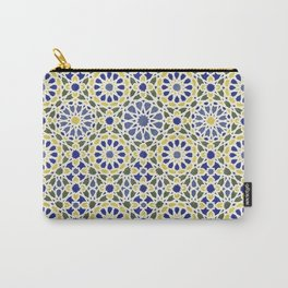 Middle Eastern Tile Pattern in Blue and Yellow #2 Carry-All Pouch