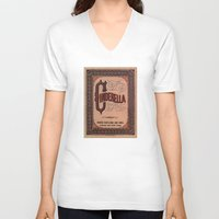 book cover V-neck T-shirts featuring Cinderella Book Cover by proudcow