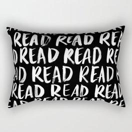 Read, Read, Read (Black) Rectangular Pillow
