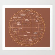 Mars 2 Art Print