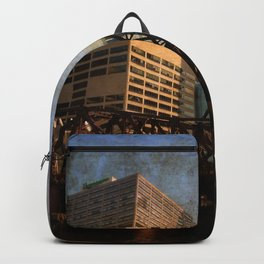 Chicago Skyline Chicago River Drawbridge Backpack