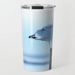 Seagulls Sunset Travel Mug