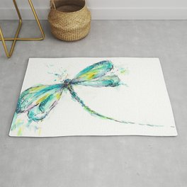 Watercolor Dragonfly Rug