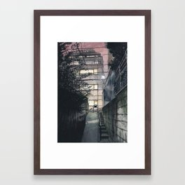 Tokyo at Night #05 Framed Art Print