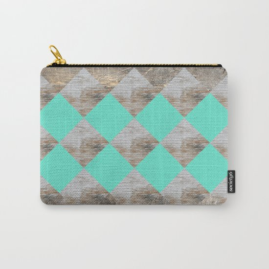 GeometricWood Carry-All Pouch