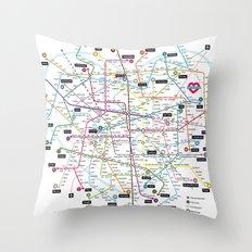 Love Map Throw Pillow