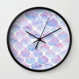 Mermaid Scales 03 Wall Clock