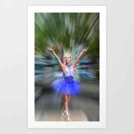 Ballerina in the Park Art Print