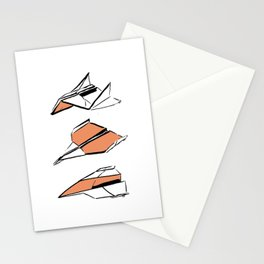 Paper Planes: Orange Stationery Cards