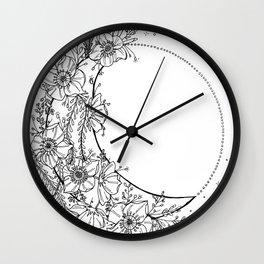 White Flower Moon; Stardust; Crescent Moon; Dream Catcher Wall Clock