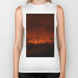 Wild fire landscape nature illustration Biker Tank