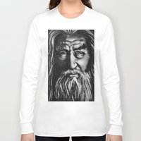 gandalf Long Sleeve T-shirts featuring Gandalf by spiderdave7