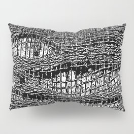 Old Fabric Fibers-Distressed-Torn Cloth-Ripped Pillow Sham