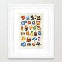 alphabet Framed Art Prints featuring Alphabet by WanderingBert / David Creighton-Pester