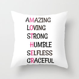 The Meaning of Mother, Mother's Day Gift Throw Pillow
