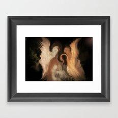 Little Family Of Angels, Abstract, by Sherriofpalmsprings Framed Art Print