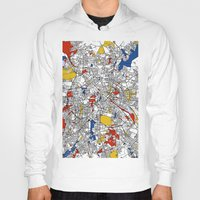 mondrian Hoodies featuring Berlin mondrian by Mondrian Maps