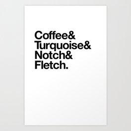 Coffee & Turquoise Art Print