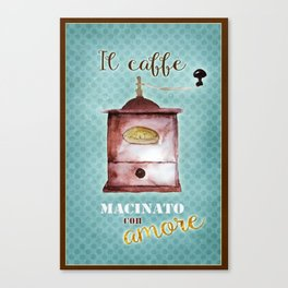 Coffee Ground with Love Canvas Print