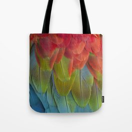 Macaw Feathers. Tote Bag
