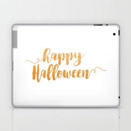 Happy Halloween   Orange Glitter Laptop & iPad Skin