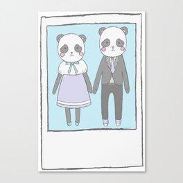 Pandas in love Canvas Print