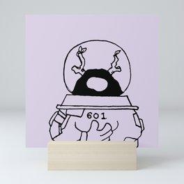 Spaceman in 601 universe - Purplevine Mini Art Print
