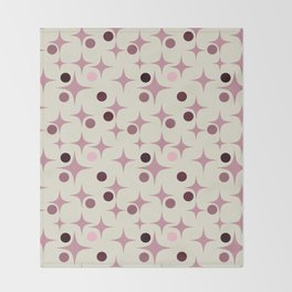 Retro Pattern Rose Throw Blanket