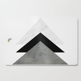 Arrows Monochrome Collage Cutting Board