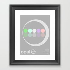opal single hop Framed Art Print