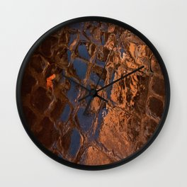 Coppery Cobble Stones Wall Clock