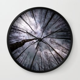 Above us only.... clouds Wall Clock