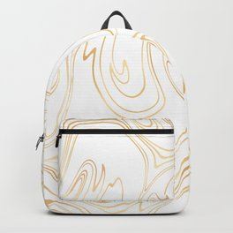Liquid Gold Marble. Trendy golden ink marbling texture. Suminagashi art. Clear iPhone Case Backpack