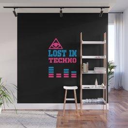Lost in techno music design Wall Mural