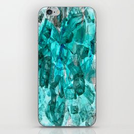 Turquoise Glass Chrystal Abstract iPhone Skin