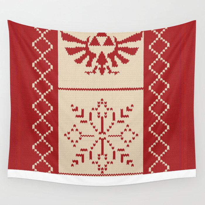 Nerdy Christmas Sweater: Zelda Wall Tapestry by minettewasserman ...